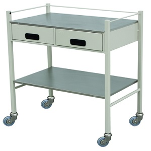 DRESSING TROLLEY (2 DRAWERS ) WITH RAILING