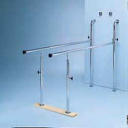 WALL MOUNTED PARALLEL BARS-HEIGHT ADJUSTABLE, 7 FOOT