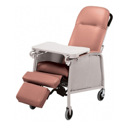 RECLINING GERIATRIC CHAIR - 3 POSITIONS RECLINER CHAIR
