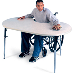 POWDER BOARD TABLE (HORSESHOE TABLE)