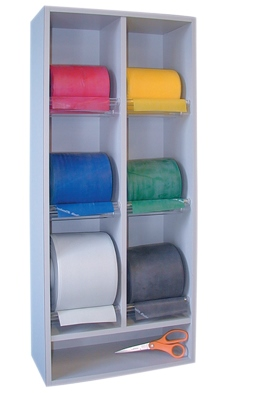 BAND RACKS (VERTICAL DISPENSER WITH SHELF) UNIVERSAL (6ROLL)