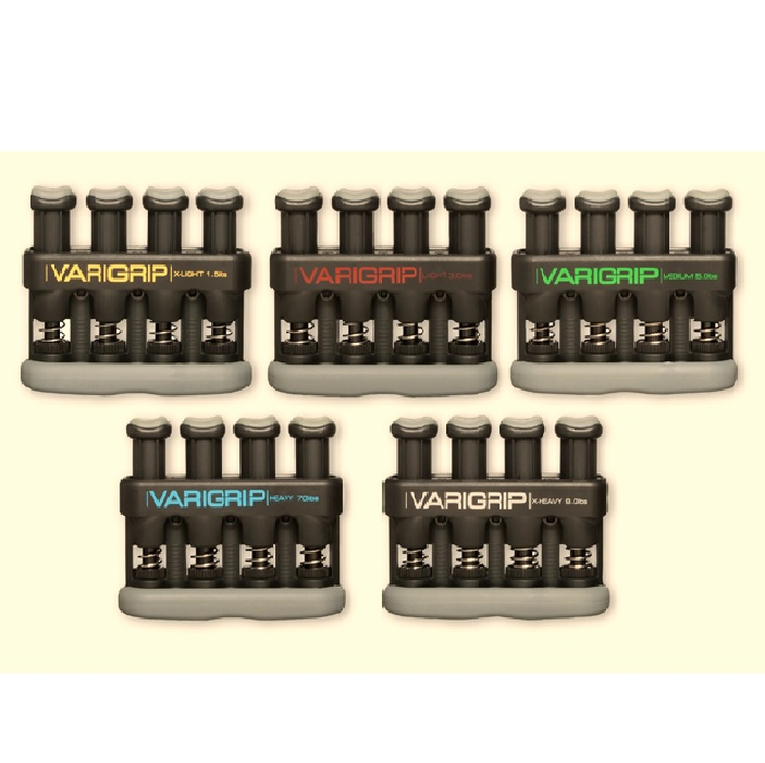 CANDO VARIGRIP HAND EXERCISER (SET OF 5) NO RACK - WEIGHT : 2.0 LBS