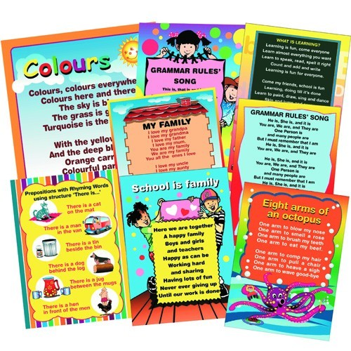 ENGLISH GRAMMAR SONG FLIP CHARTS