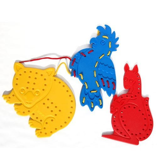 LACING ANIMALS 3 PCS - S5009(D)
