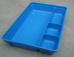 INJECTION TRAY BLUE - 4 COMPARTMENTS (PLASTIC MEDICAL TRAY)