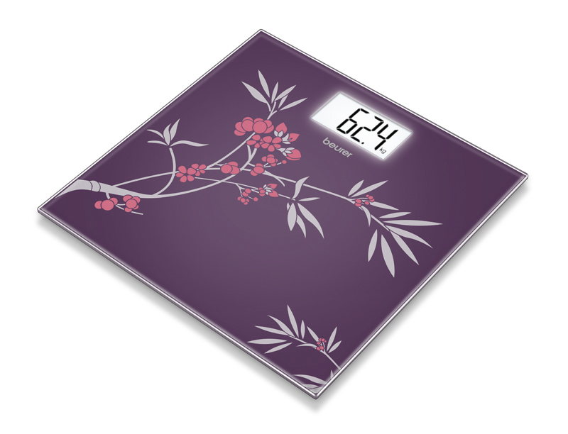 GS207 GLASS BATHROOM SCALE - SPRING