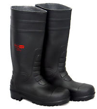 SAFETY WELLINGTON BOOTS WITH STEEL TOP CAP