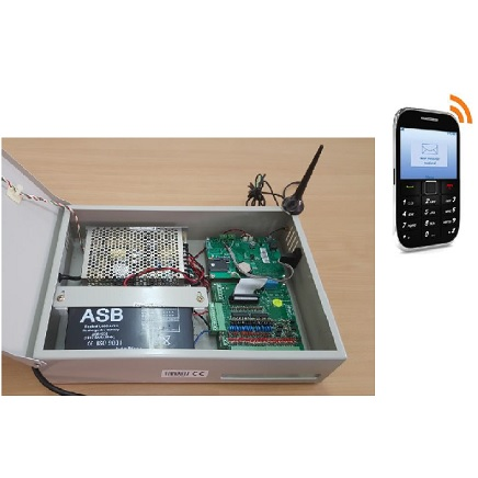SMS ALARM SYSTEM FOR LAB FREEZER AND REFRIGERATOR CONNECTION