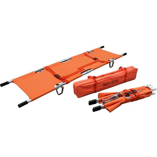 DOUBLE FOLD STRETCHER W/SEWN 2 STRAP IN CARRYING BAG)