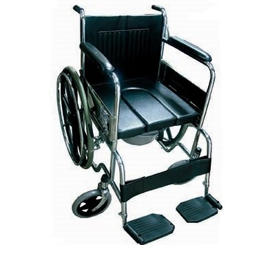 2 IN 1 COMMODE WHEELCHAIR