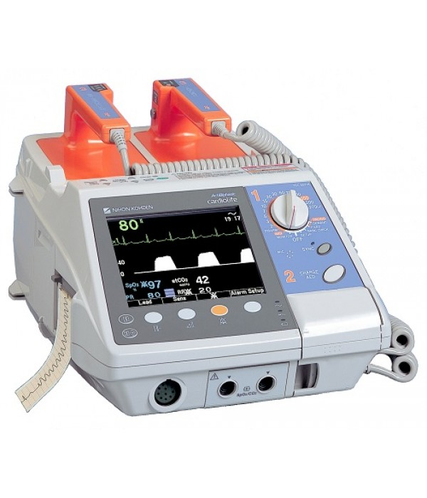 BIPHASIC NIHON CODEN CARDIOLIFE CARDIAC DEFIBRILLATOR - TEC5500
