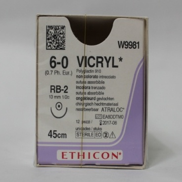 VICRYL RB-2, 13MM 1/2C ROUND BODIED