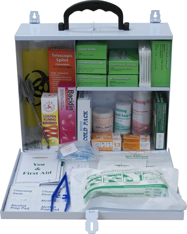 METAL LARGE FIRST AID KIT (PM-02-ML)