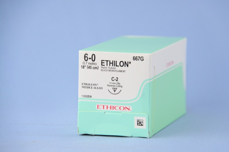 ETHILON SUTURE 18IN (45CM) 6-0 BLK