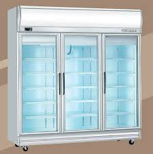 3 DOOR DUAL DISPLAY 1 CHILLER 2 FREEZER- SILVER MATT