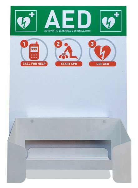 WALL MOUNT WITH SIGN FOR CARDIAID AED