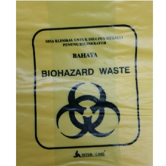 YELLOW BIOHAZARD WASTE BAG